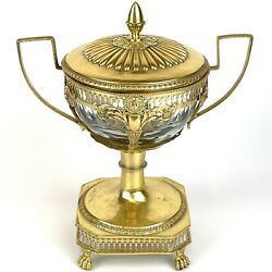 Fine 19th C French Solid Silver Gilt Jean Pierre Bibron Vase And Cover 22cm A/f