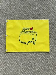 2020 Masters Golf Flag Embroidered Pin Flag Augusta National Brand New- Sold Out