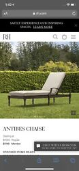 A Pair Of Restoration Hardware Antibes Chaise Lounge Chairs