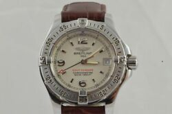 Breitling Colt Oceane Women's Watch A77380 1 1/4in Steel With Leather Band Fine