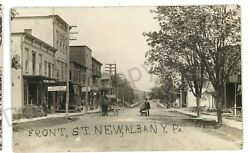 Rppc Front Street Stores New Albany Pa Bradford County Real Photo Postcard