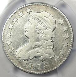 1818/5 Capped Bust Quarter 25c - Pcgs Vf Details - Rare Coin - Scarce Date