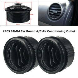 63mm Black Car Round A/c Air Conditioning Outlet Vent Part For Rv Bus Boat Yacht
