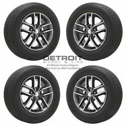 18 Jeep Grand Cherokee Polished Grey Wheels Rims And Tires Oem Set 4 2011-20...