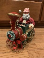 Clothtique Possible Dreams Christmas Santa Train Conductor Musical With Tags