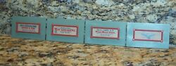 4 Vintage Old West Signs Billboards For O/ho Scale Railroad Train Town Accessory