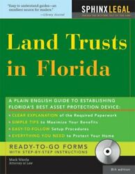 Land Trusts In Florida With Cd, 8e By Mark Warda Excellent Condition