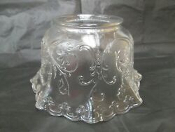 Vintage Lamp Shade Clear Pressed Glass Lamp Light Shade Embossed