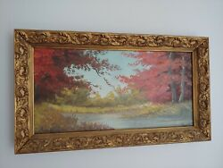 Antique Artist Joost Signed Oil Painting On Wood Vintage Frame Rare Late 1800and039s