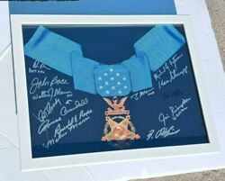 Congressional Medal Of Honor 11x14 Photo Framed Signed By 13 Ty Carter +