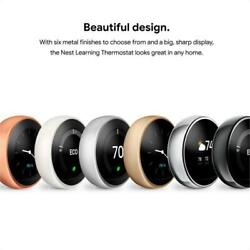Complete Kit Google Nest 3rd Generation Learning Thermostat - Choose Color