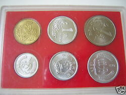 Currency Coin Set China 6 Coins 1983,1984,1986,1994,1995,1996