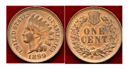 1899 1c-good Eye Appeal And Nice Color-indian Head Cent