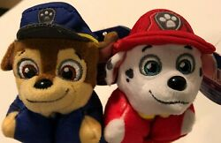 PAW PATROL NICKELODEON MARSHALL amp; CHASE MINI PILLOW PETS SET OF 2 $5.99