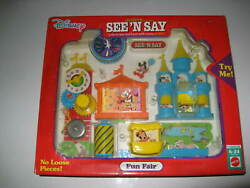 Vintage Mattel Mickey Mouse Castle See N Say Fun Fair Toy By Disney Sealed Rare