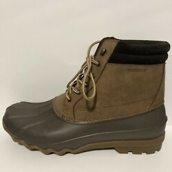 Mens Sperry Top Sider Waterproof Brewster Boots Sts14140 Brown Size 12m Y997