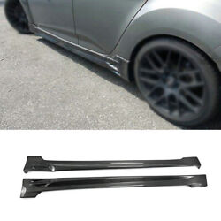 For Hyundai Veloster 2011-2016 Real Carbon Fiber Exterior Door Panel Side Skirts