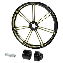 23and039and039 Gold Front Wheel Rim Hub Single Disc Fit For Harley Touring Road King 08-20