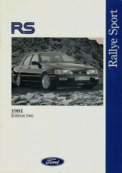 Ford Rs 1991 Edition 2 Uk Market Brochure Fiesta Rs Turbo Sierra Cosworth 4x4