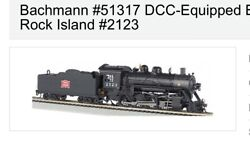 Ho 2-8-0 Rock Island Dcc Equipped Locomotive Bachmann New 51317