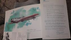 United Airlines Collector Nixon Galloway Print Litho Boeing 221a Monomail 1930