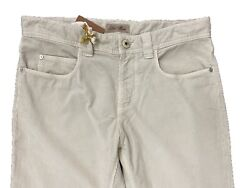Loro Piana Beige 5 Tasche Cotton Corduroy Pants Size Us 32 Made In Italy