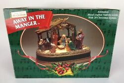 Mr.christmas Away In The Manger Animated Hand Crafted Nativity Scene