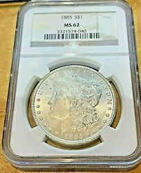 1885 Us Morgan Silver 1 One Dollar Ngc Ms62 Key Date Collector Coin Superb