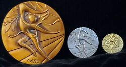 Taro Okamoto 1972 Xx Olympic Participation Medal Pure Gold Coin Sterling Silver