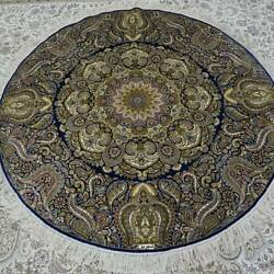 Yilong 5'x5' Handknotted Silk Carpet Home Interior Living Room Luxury Rug Tj168a