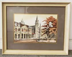 Rolland Golden - Jackson Square Print New Orleans 20th Century