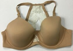 Soma Womenandrsquos Embraceable Geo Lace Racerback Full Coverage Bra Nude Size 38c