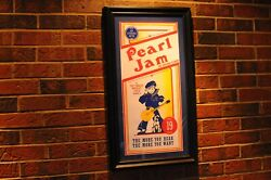 Rare Pearl Jam Crackerjack Poster From Chicago July 19, 2013 In Excellent Condit