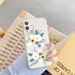 Cute Transparent Flowers Phone Case For Samsung Note Clear Cover