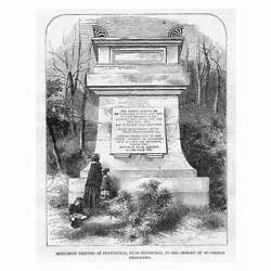 Penicuik Monument Erected In Memory Of 300 French Prisoners - Antique Print 1856