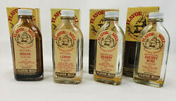 Lot Of 4 Empty Flavoring Baking Extract Bottles With Boxes Flavor Mill