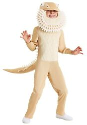 Child Kids Bearded Dragon Reptile Lizard Dinosaur Costume SIZE M Used