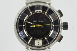 Louis Vuitton Tambour Menand039s Watch Quartz Q118f Digital Analog With Steel Band