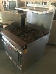 Vulcan-7845-a H.d. Commercial Natural Gas 4 Burners S.s. Stove/range W/oven