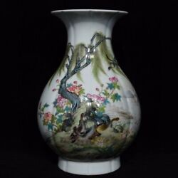 13and039and039 China Antique Vase Five-colored Porcelain Vase Pottery Bottle Hxcc