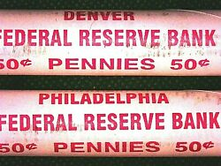 1972 P And D Bu/unc Roll Lincoln Memorial Cents 1-order Gets Both Original Rolls