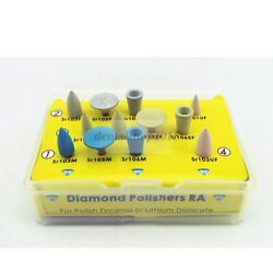 12pc Ra Diamond Burs Polishers For Lithium Disilicate For Lowspeed Handpiece