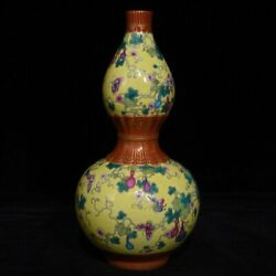 8.4and039and039 China Antique Vase Five-colored Porcelain Vase Pottery Bottle Hxcc