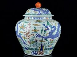 18and039and039 China Antique Pot Five-colored Porcelain Pot Jar Pottery Tank Hxcc