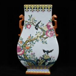 12.6and039and039 China Antique Vase Five-colored Porcelain Vase Pottery Bottle Hxcc