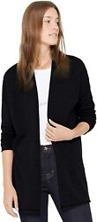 State Cashmere Lightweight Mid-thigh Open Cardigan 100 Pure Cashmere Long Sleev