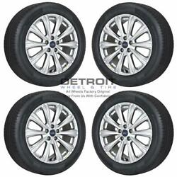 18 Ford Escape Hyper Silver Wheels Rims And Tires Oem Set 4 2013-2019 10110