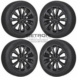 18 Ford Escape Pvd Black Chrome Wheels Rims And Tires Oem Set 4 2013-2019 10110