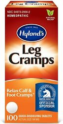 Leg Cramp Tablets By Hyland's, Natural Relief Of Calf, Leg And Foot Cramp, 100 C