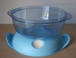 Tupperware Heat N Serve Microwave Container 6 Cup Blue New